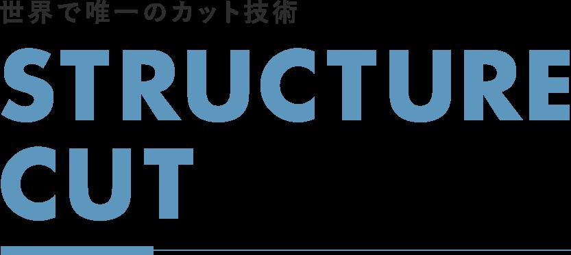 世界で唯一のカット技術STRUCTURE CUT